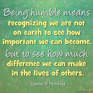 being-humble